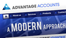 Advantage Accounts website by Cirrus Nova